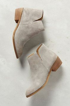 Love these grey booties. Probably too narrow for me in the toe. Splendid Hamptyn Booties - anthropologie