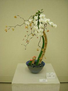 Ikebana Japanese flowers arrangement