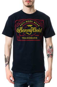 Benny Gold The Anti Work Tee in Navy