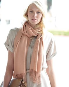 Pashmina stole. Even in summer, Parisiennes are are crazy about scarves