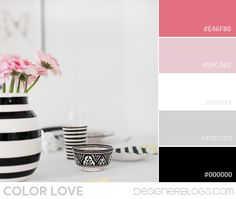New Ideas For Bedroom Black Pink White Color Palettes Black White Bedrooms, Pink Bedrooms, Black Rooms, Bedroom Black, White Rooms, Princess Bedrooms, Black And White Colour, Black White Gold, Pink White
