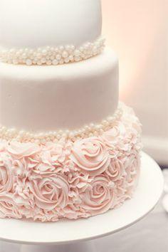 three tier wedding cake in soft pink - brides of adelaide