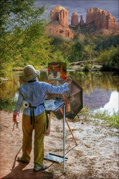 Artists love Sedona - possibly more than we do!  Come for a visit. www.sedonavacations.com   See you soon!