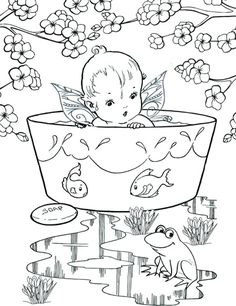 Free Printable fairy coloring pages. Fun and adorable coloring pages for fairy lovers. Fairy Coloring Pages, Free Coloring Pages, Wild Flowers, Free Printables, Stuff To Do, Snoopy, Toys, Blog, Fun