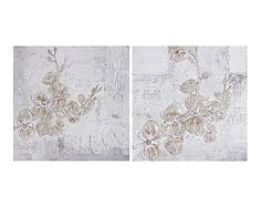 Set de 2 lienzos sobre bastidores de madera Ramas - 80x80 cm