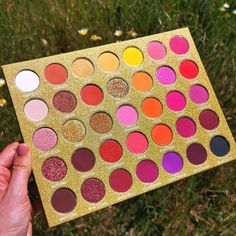 One of our best sellers the Golden Skies palette is back in stock hands up if you love this palette Neon Eyeshadow, Eyeshadow Palette, Ibiza Sunset, Sunset Makeup, Best Sunset, Cruelty Free Makeup, Saturated Color, Color Blending, Makeup Products