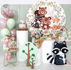 Fox Party, Baby Party, Baby Shower Parties, Baby Shower Themes, Baby Boy Shower, Forest Party, Woodland Party, Girls Party Decorations, Shower Bebe