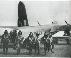 Stirling crew after completion of raid.