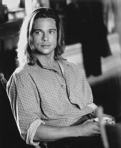 "Brad Pitt... I had so many pictures hanging up in my cube, including this picture from Legends of the Fall, that they dubbed my cube, ""The Pitt."""