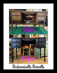 Mademoiselle Marcelle shared with us this awesome before and after using Real Milk Paint. Click on the image to learn about her project!