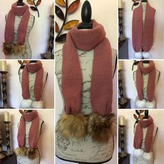 Chunky Infinity Scarves, Oversized Scarf, Pompom Scarf, Cable Knit Hat, Hand Knit Scarf, Fur Pom Pom, Knit Or Crochet, Arm Warmers, Hand Knitting