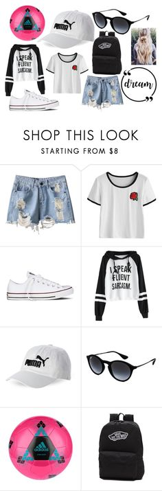 """Sofie"" by annaandemilie ❤ liked on Polyvore featuring Converse, Puma, Ray-Ban, adidas, Vans, men's fashion and menswear"