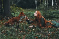 With a penchant for portraiture and a fascination with freckles, photographer Alexandra Bochkareva is artistically attracted to redheads. Since she first dabbled in photography four years ago, the St. Petersburg-based artist has captured the unique beauty of crimson locks through dreamy and bewitching photographs. While the vast majority of her scarlet-centric shots feature women, Bochkareva's fondness for redheads is not strictly limited to humans. She has also incorporated a fiery red fox…