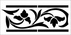 Border stencils from The Stencil Library. Stencil catalogue quick view page 6.