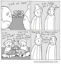 Lunarbaboon - comics - youth life comics, fresh memes, parenting humor, kids and Life Comics, Comics Story, Fun Comics, Comics Und Cartoons, Beste Comics, 4 Panel Life, Comic Book Collection, Stupid Funny Memes, Funny Stuff