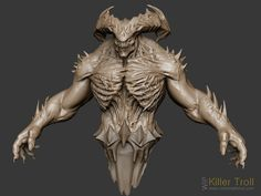 Zbrush Sculpt concept from Legend of the Cryptids