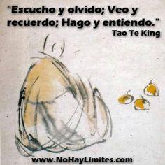 """""""Escucho y olvido; Veo y recuerdo; Hago y entiendo."""" Tao Te King"""