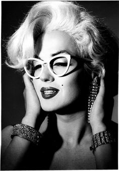 Jimmy James (legendary female impersonator) as Marilyn in Greg Gorman's 1990 L.A. Eyeworks campaign photo.
