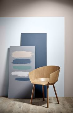 Various colours available from Crown can help to complete your room with the skycapes trend: (From top to bottom) Hare, Carrie, Midnight Navy, Sherbet White, Pier View, Blue Gravel and Tropical Ocean.
