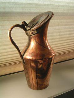 Antique Hammered Copper Kettle Jug Hinged Lid Handle 19th Century Arts & Crafts #ArtsCraftsMissionStyle