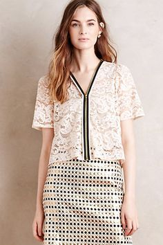 Zipped Lace Topper #anthropologie