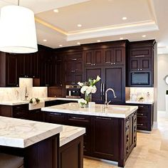Espresso Cabinets, Transitional, kitchen, Elizabeth Kimberly Design