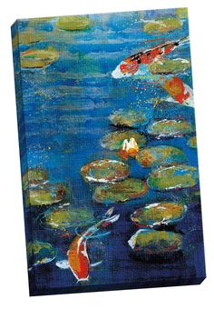 Nymphaea II by Danson Painting Print on Wrapped Canvas