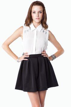 $42 ShopSosie Style : Letta Skirt in Black