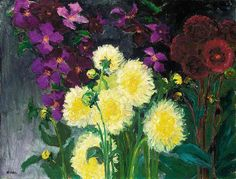Emil Nolde. Clematis and Dahlia.