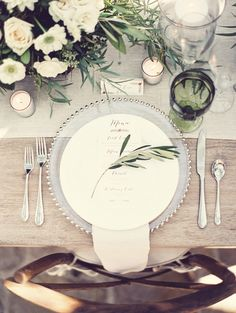 classic reception table decor - simple and elegant