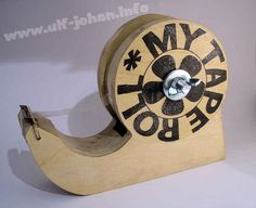 Tape holder made from recycled plywood!