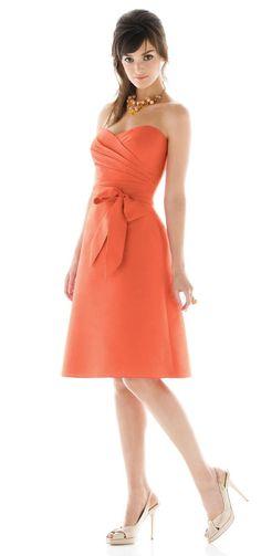 burnt orange short bridesmaid dresses - Google Search
