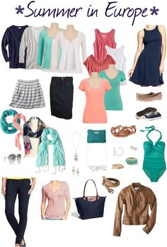 Summer in Europe Packing Mood Board