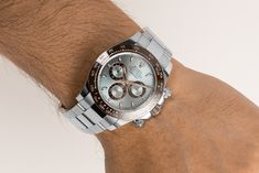 When you feel the platinum on your wrist and look at combination of colours from the brown ceramic bezel and the light blue dial, you will understand...This Daytona 116506 gives you a feeling like no other! Rolex Cosmograph Daytona, Rolex Daytona, Buy Rolex, Rolex Models, Luxury Watch Brands, Casio Watch, Rolex Watches, Light Blue, Colours