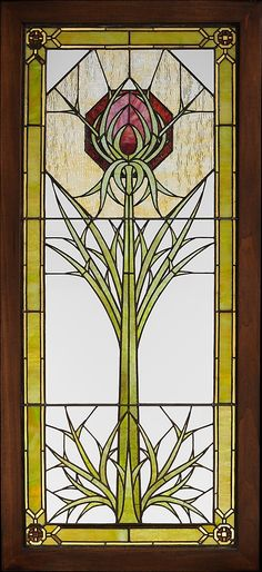 Window from the James A. Patton House ~ by George Washington Maher ~ 1900 | JV