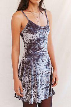 Urban Renewal Remade Crushed Velvet Godet Dress