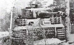 A Tiger 1 with additional track links mounted on the hull for added protection.