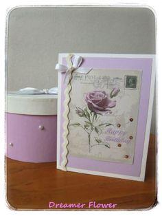 Card compleanno violetta,  Birthday card