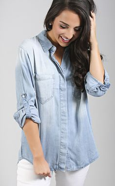 thread & supply: rayla shirt - light wash--Get 15% off + Free Shipping w/code 'RiffraffRepLauren' at checkout on ShopRiffraff.com!