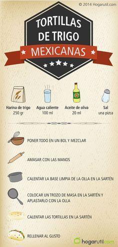 Receta de Tortillas de trigo mexicanas - Bruno Oteiza How to make Mexican wheat tortillas to m Tamales, Mexican Dishes, Mexican Food Recipes, Comida Tex Mex, Nachos Mexicanos, Taco Wraps, Tacos And Burritos, Mexico Food, Vegetarian Recipes