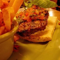 Restaurant Burgers: Applebee's Bruschetta Burger Recipe