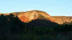 Sunset at jemez springs new Mexico