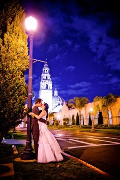 A lovely night in Balboa Park.  For more images from this wedding, click here --> http://www.truephotographyweddings.com/event/jessica-francis