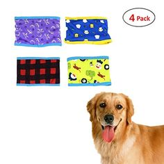 Dog DiapersCilkus SET  4pcs Dog Puppy Diaper MALE Boy Belly Band Reusable Washable for SMALL Dog Breeds Random Colors S >>> Check out the image by visiting the link.(This is an Amazon affiliate link and I receive a commission for the sales)