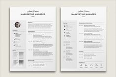 Resume Cv Anna by Estartshop on @creativemarket