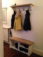 Coat Rack Bench And Shoe Rack Idea For Hallway By Door Bench