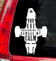 Damage My Calm Firefly Decal by AxandCrown on Etsy