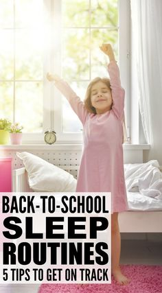 Back-to-school can be a stressful time, especially when sleep schedules are out of whack and your kids are tired and cranky. The good news . Kids Sleep, Baby Sleep, Child Sleep, Back To School Hacks, School Tips, School Fun, School Ideas, School Routines, Sleep Schedule