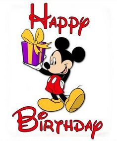 Happy Birthday Wishes From Mickey Mouse Card Happy Birthday Mickey Mouse, Happy 35th Birthday, Birthday Cartoon, Mickey Mouse Parties, Happy Birthday Images, Mickey Party, Birthday Pictures, Happy Birthday Wishes, Minnie Mouse