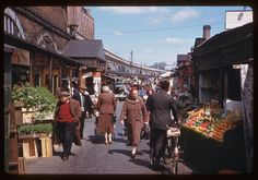 Shepherds Bush Market - Date: May 1961 Location: London, England, United Kingdom (Greater London county) Description: Shepherd Bush Market Vintage London, Old London, West London, London Market, Shepherds Bush, London History, London Photos, London Pictures, Greater London